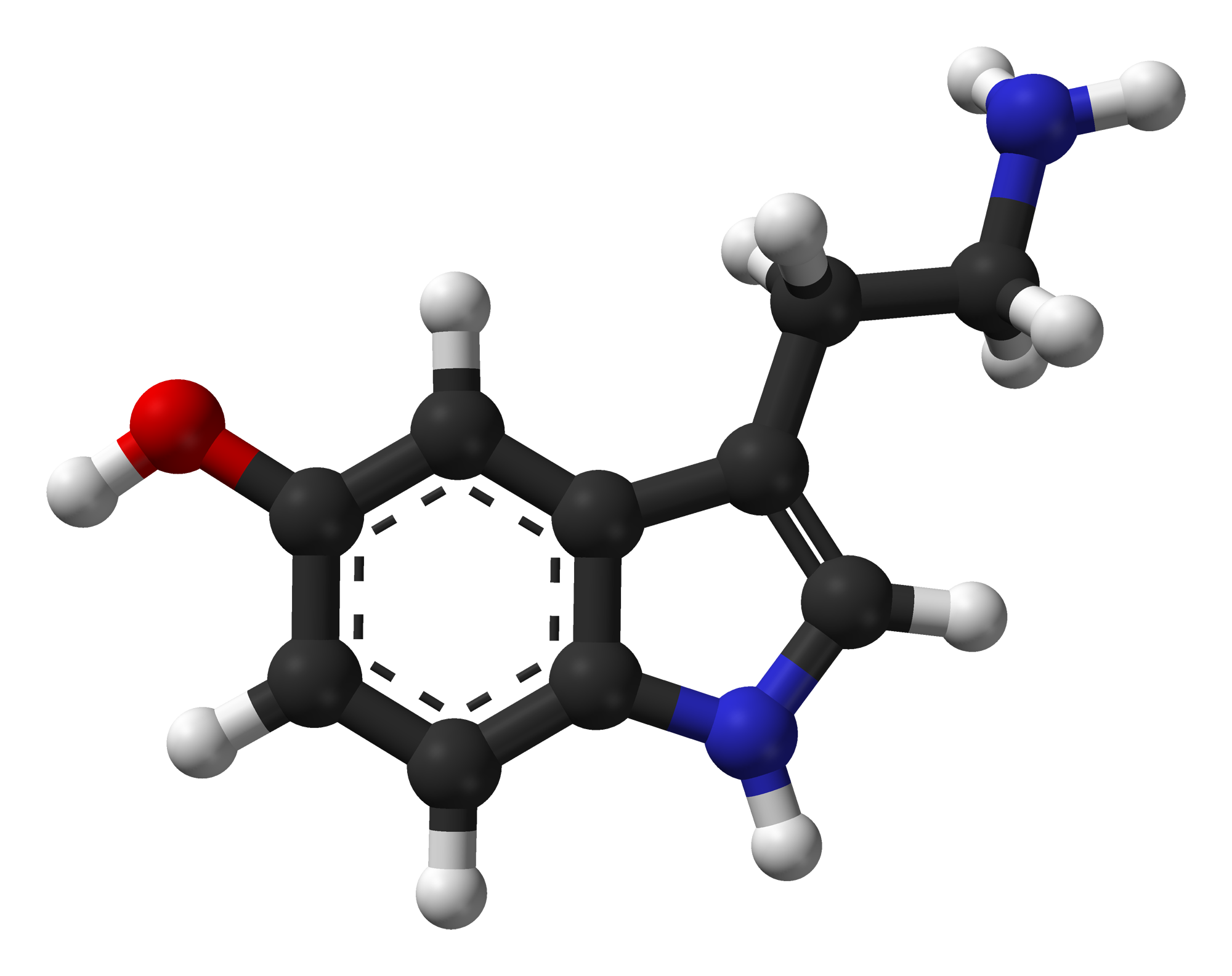 Serotonin-Spartan-HF-based-on-xtal-3D-balls-web