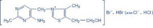 B1-vitamin molekulaszerkezete
