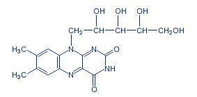 B2-vitamin molekulaszerkezete