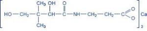 B5-vitamin molekulaszerkezete